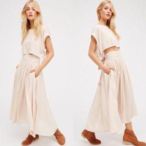 Free People Lace Maxi Skirt Size  L